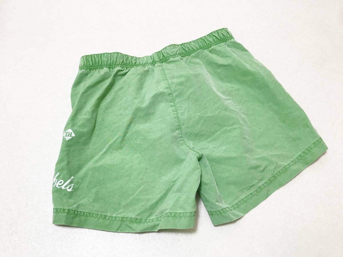 メンズSサイズ:mavi◆メッシュインナーパンツ付き・海パン水着:虎刺繍*緑