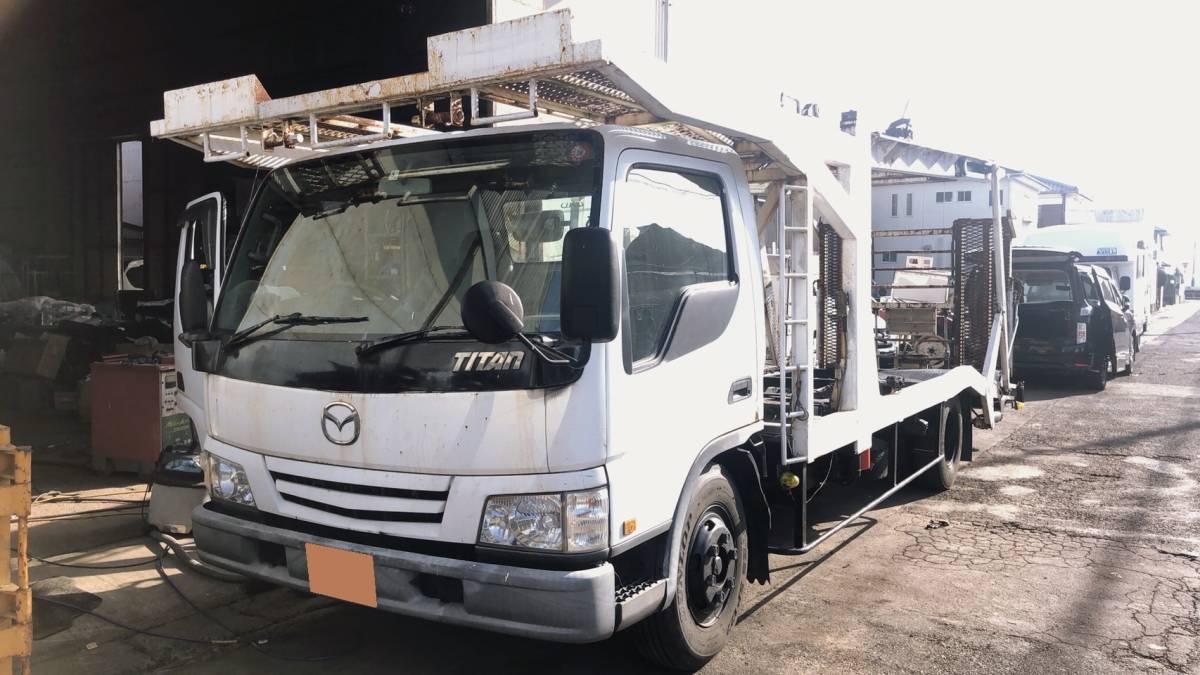 「タイタン 積載車 3台積み キャリアカー NOX・PM適合」の画像1