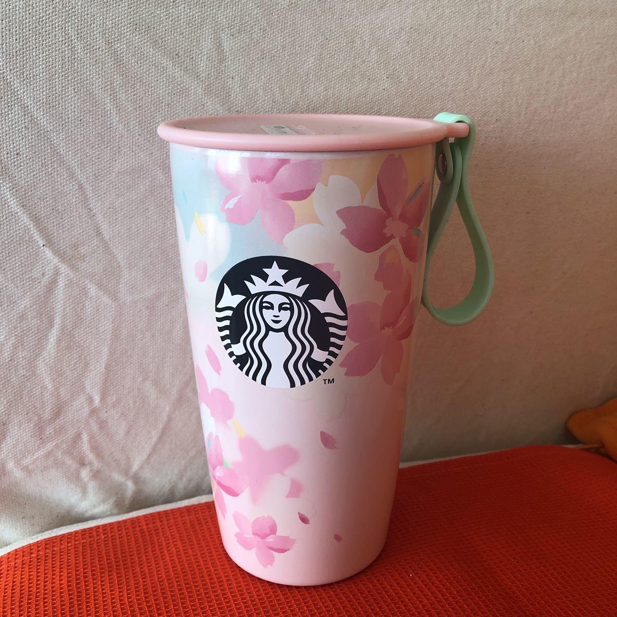 即決★ ☆新品STARBUCKSスターバックスさくら春限定SAKURA2020ストラップカップシェイプボトル355mlスタバ_画像1