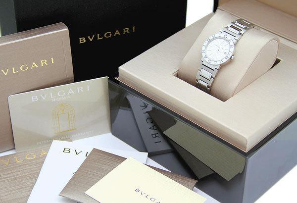 美品!!BVLGARI/ブルガリ BBL26S ブルガリブルガリ レディース 白文字盤 クォーツ ケース/Gカード付属_画像5