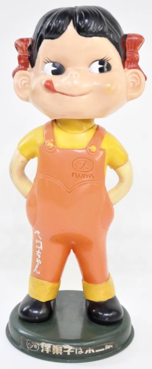 昭和ビンテージ ペコちゃん 人形 不二家 ノベルティ 首振り人形 2体セット 店舗ディスプレイにいかがですか?(管理番号:100)_画像1