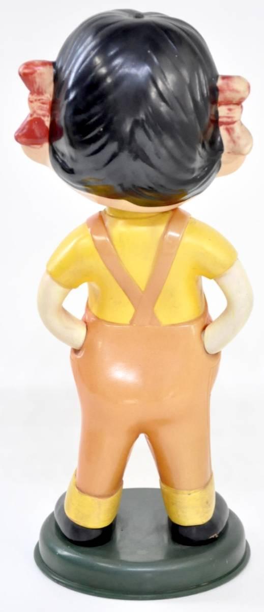 昭和ビンテージ ペコちゃん 人形 不二家 ノベルティ 首振り人形 2体セット 店舗ディスプレイにいかがですか?(管理番号:100)_画像3