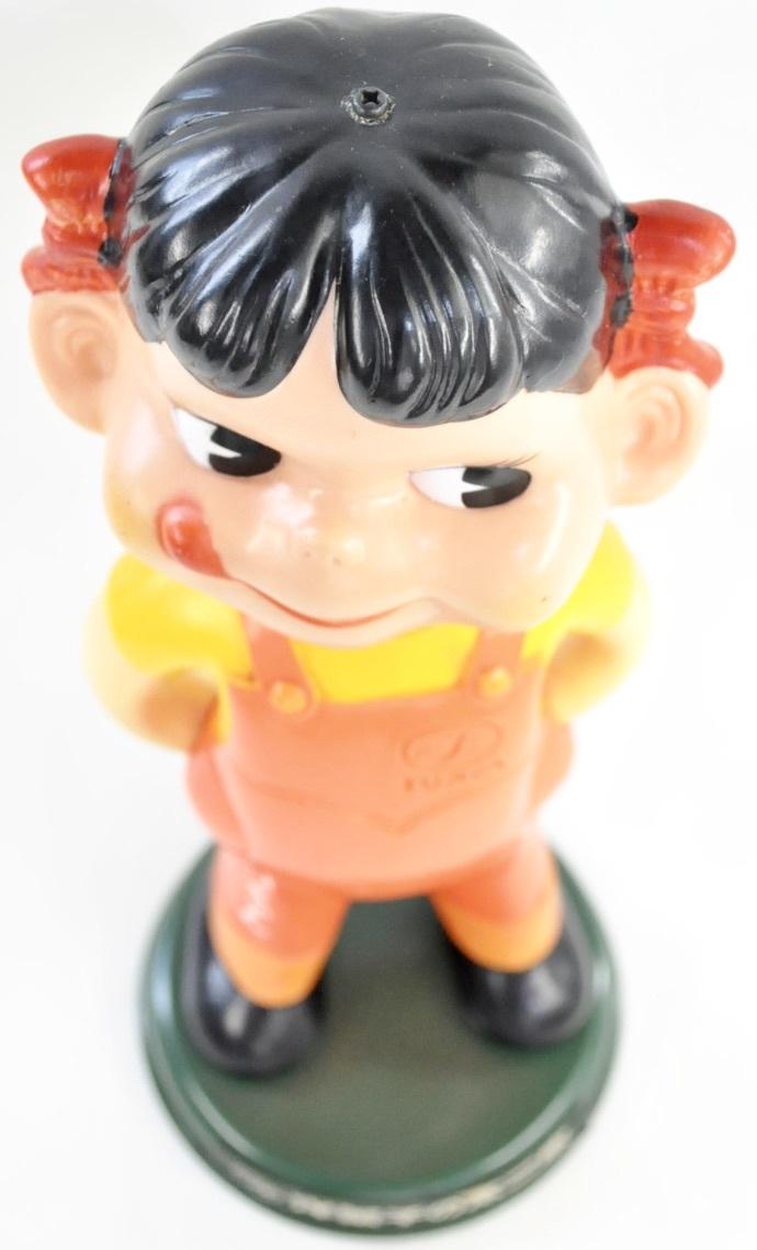 昭和ビンテージ ペコちゃん 人形 不二家 ノベルティ 首振り人形 2体セット 店舗ディスプレイにいかがですか?(管理番号:100)_画像9