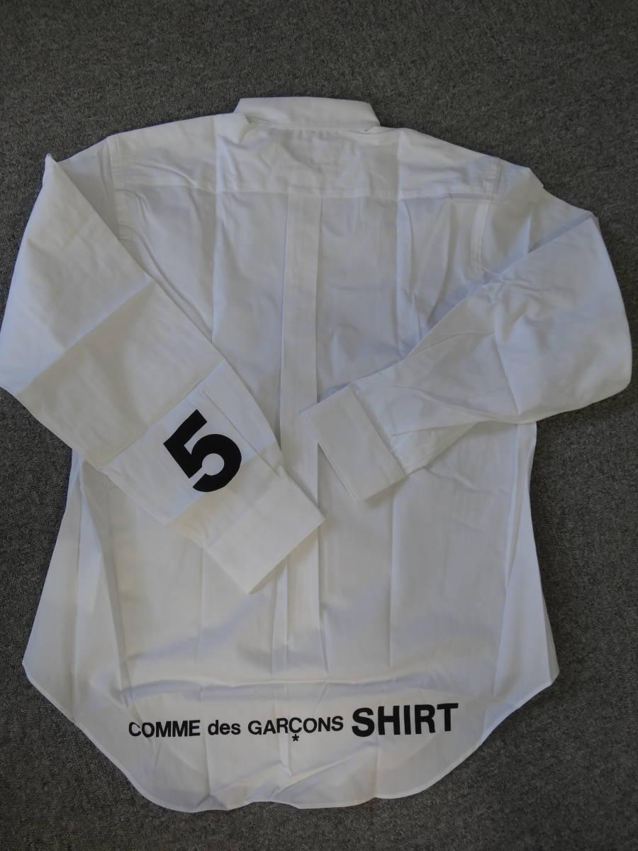 送料込! 新品 未使用 コム デ ギャルソン シャツ ロゴプリント 5 COMME des GARONS SHIRT_画像1
