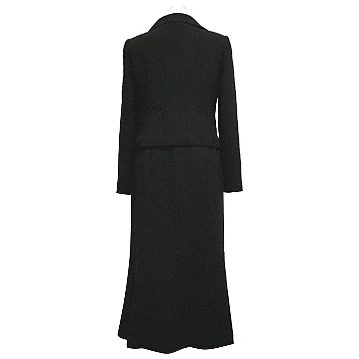 アンサンブル 黒 結婚式 卒業式 礼服