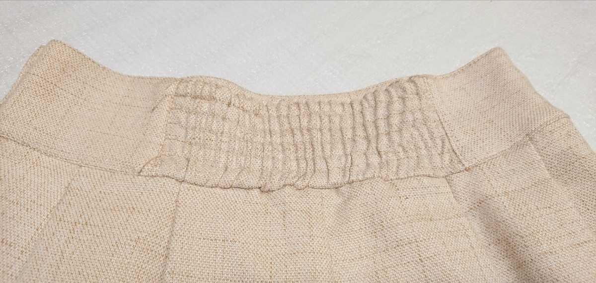 送料無料☆レストローズ L'EST ROSE☆スカラップ キュロットスカート ショートパンツ 日本製 ベージュ アイボリー キュロットパンツ_画像8