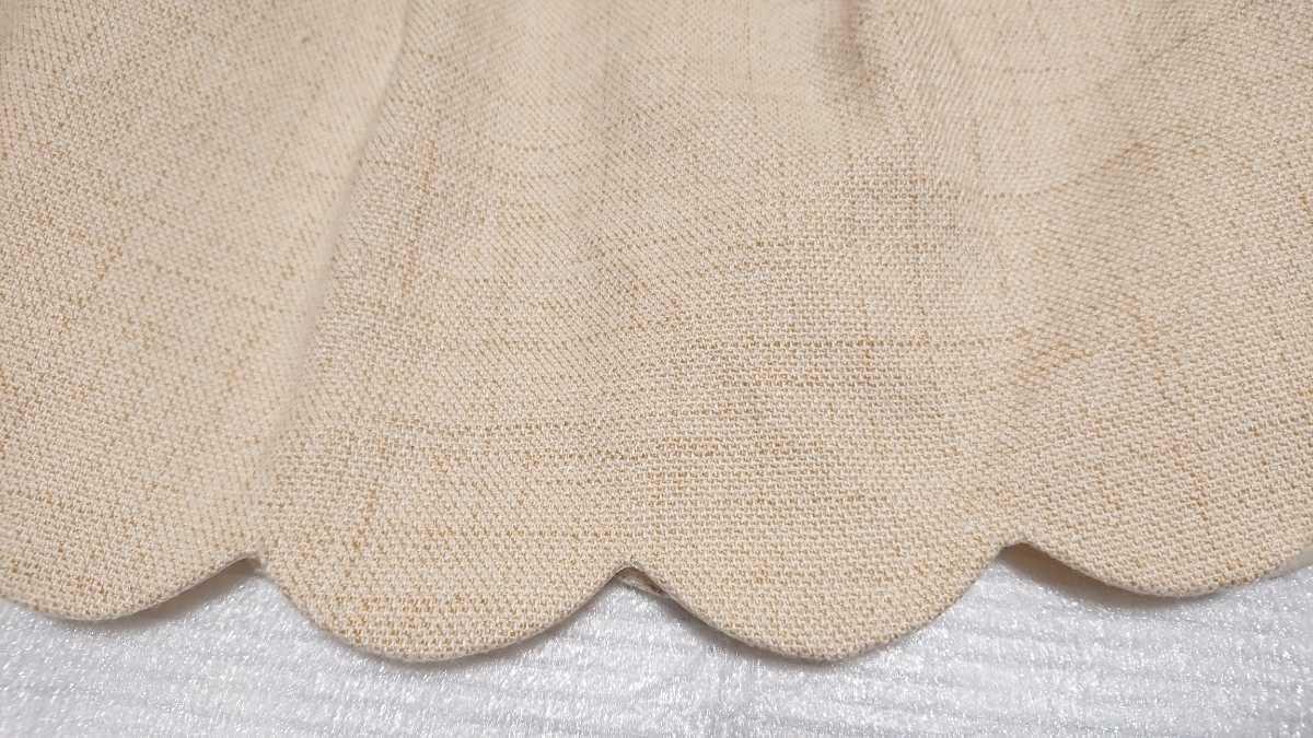 送料無料☆レストローズ L'EST ROSE☆スカラップ キュロットスカート ショートパンツ 日本製 ベージュ アイボリー キュロットパンツ_画像7