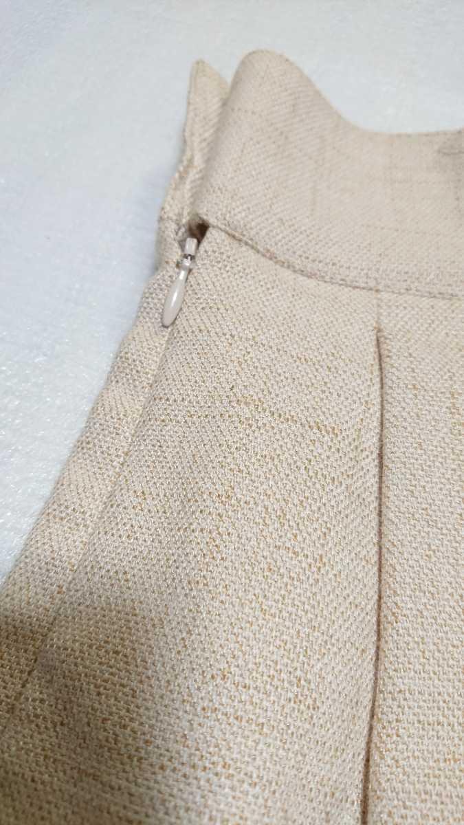 送料無料☆レストローズ L'EST ROSE☆スカラップ キュロットスカート ショートパンツ 日本製 ベージュ アイボリー キュロットパンツ_画像5