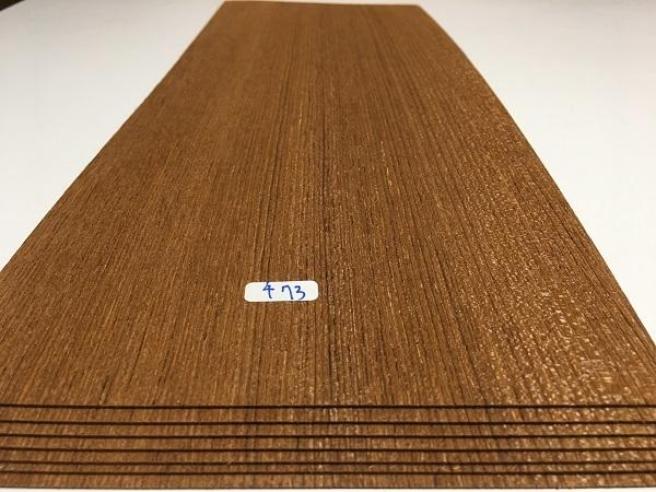 送料無料 チーク 木製家具表面材 突板材 長455x165ミリ 7枚 チ73 薄板 ツキイタ 突板 単板