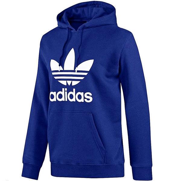 pk-adidas-Blue-S2 adidas Originals アディダス オリジナルズ スウェット フーディー パーカー プルオーバー アウター ブルー _画像1