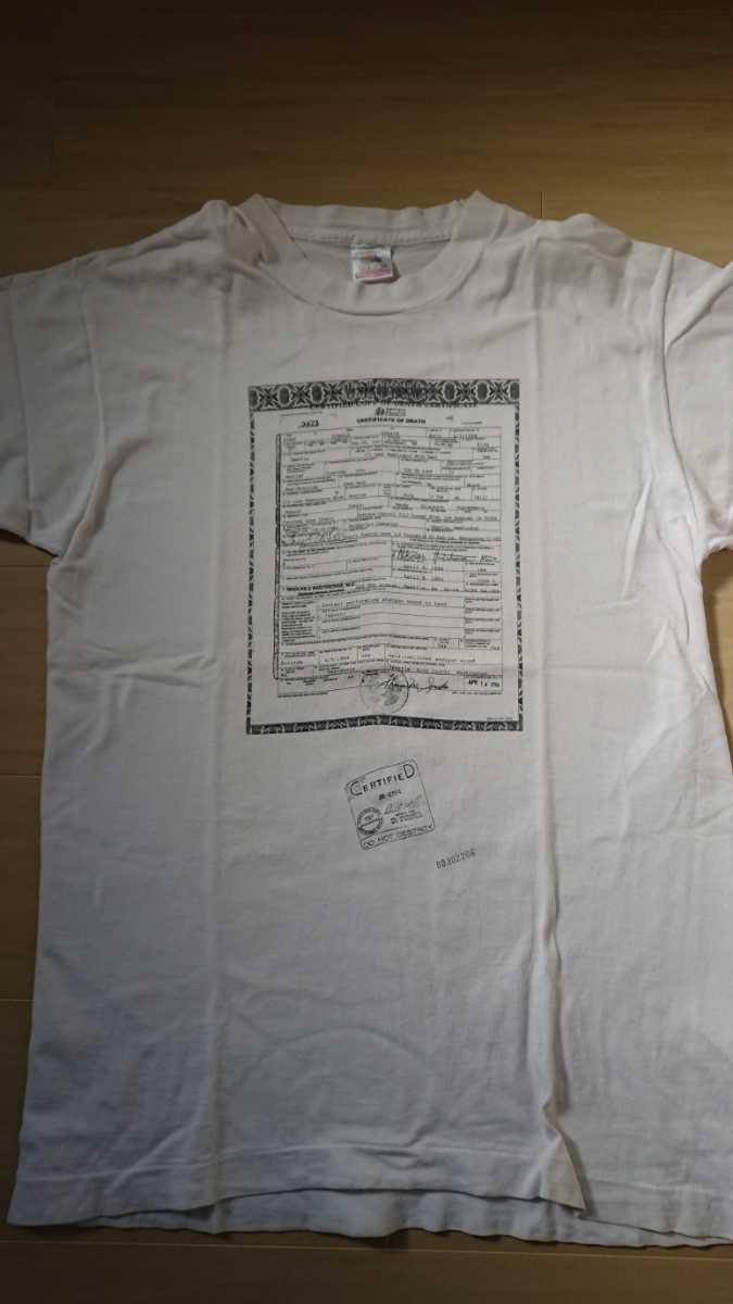 【即決・送料込】カート・コバーン 死亡診断書Tシャツ 90s NIRVANA Kurt Cobain ヴィンテージTシャツ HELLO? シングルステッチ grunge_画像2