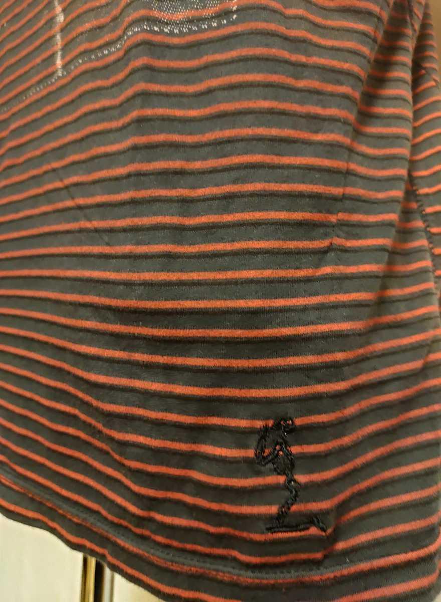 GACKT愛用 Religion レリジョン ポロシャツ ボーダーシャツ 半袖シャツ