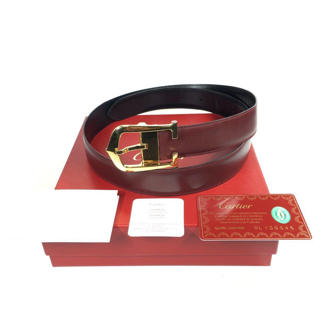 【カルティエ】本物 Cartier ベルト ロング C バックル アロンジェ 全長99cm 幅3cm メンズ サイズ調整可能 箱 ギャランティ有り 送料520円_画像3