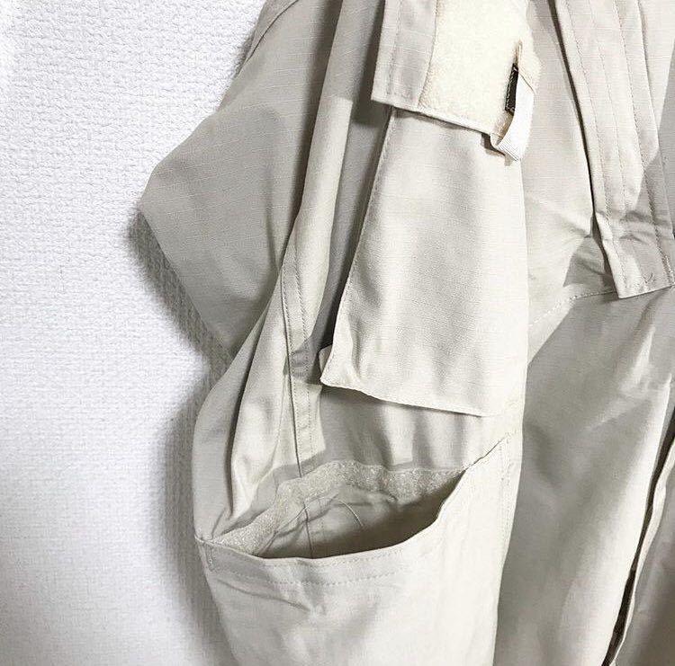 vintage ヴィンテージ ビンテージ usa us.army 米軍 軍物 軍モノ ミリタリー ベージュ カーキ 変形 BDUジャケット シャツ ブルゾン_画像7