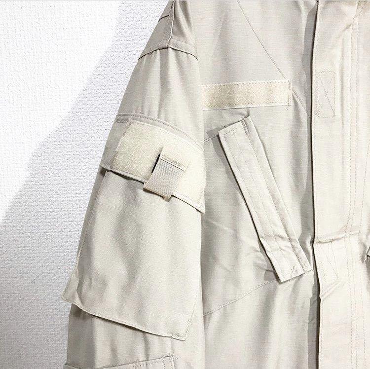 vintage ヴィンテージ ビンテージ usa us.army 米軍 軍物 軍モノ ミリタリー ベージュ カーキ 変形 BDUジャケット シャツ ブルゾン_画像6