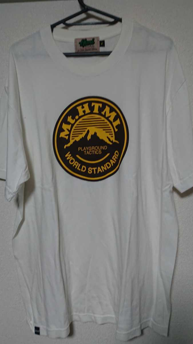 半袖Tシャツ html マウンテン Tシャツ ホワイト xl