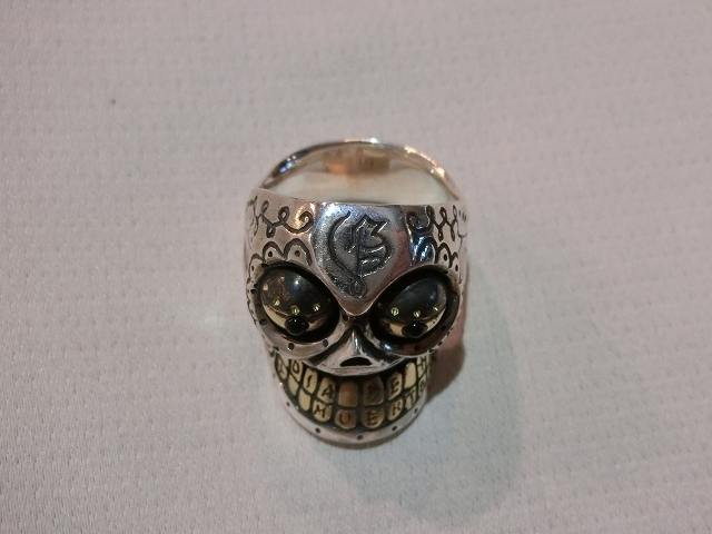 送料無料 サイズ21 galcia メキシカン カラベラリング シルバー925 ガルシア メキシカンスカル 指輪_画像5