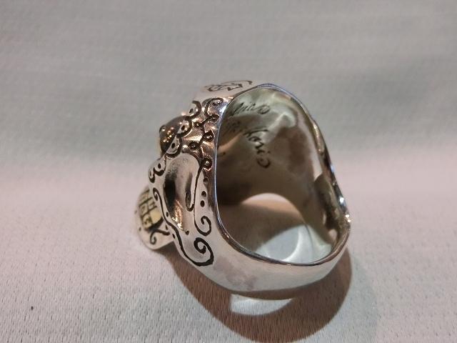送料無料 サイズ21 galcia メキシカン カラベラリング シルバー925 ガルシア メキシカンスカル 指輪_画像6