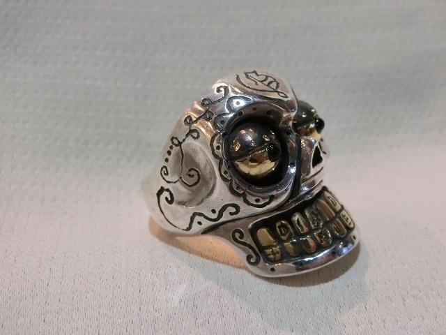 送料無料 サイズ21 galcia メキシカン カラベラリング シルバー925 ガルシア メキシカンスカル 指輪_画像4