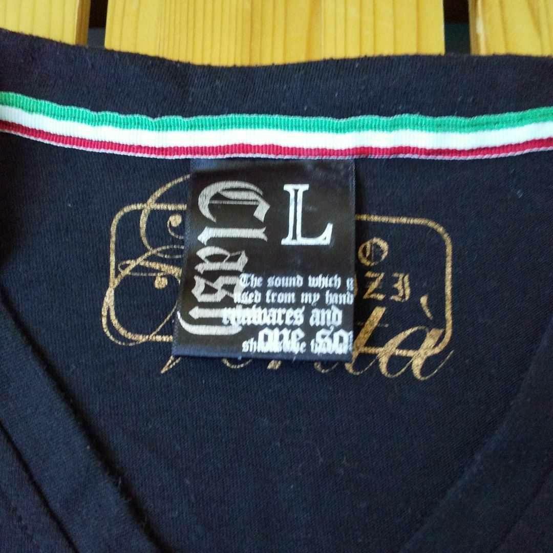 Clash Ahead Tシャツ 長袖 L ブラック ラインストーン