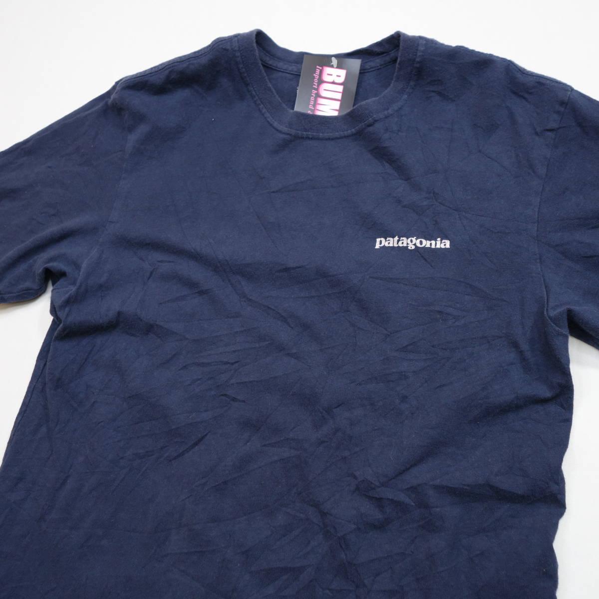 パタゴニア patagonia Tシャツ 半袖 メンズ S クルーネック バックプリント アウトドア カジュアル アメリカ USA直輸入 古着 MNO-1-1-0510_画像3