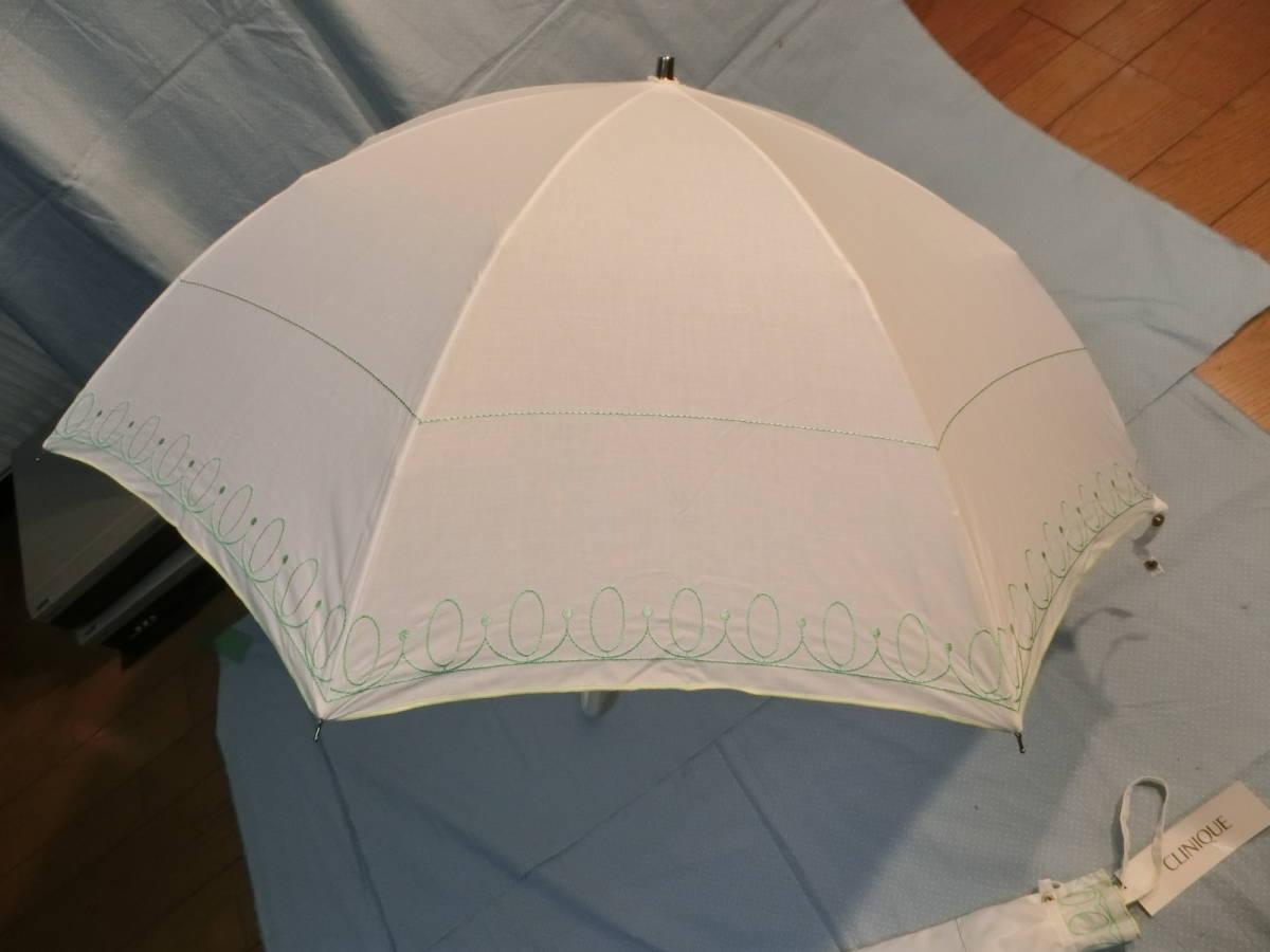 新品・未使用 《非売品》 CLINIQUE クリニーク 折りたたみ傘  WHITE_画像3