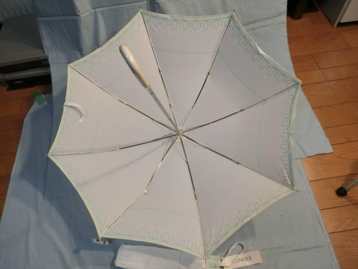 新品・未使用 《非売品》 CLINIQUE クリニーク 折りたたみ傘  WHITE_画像4