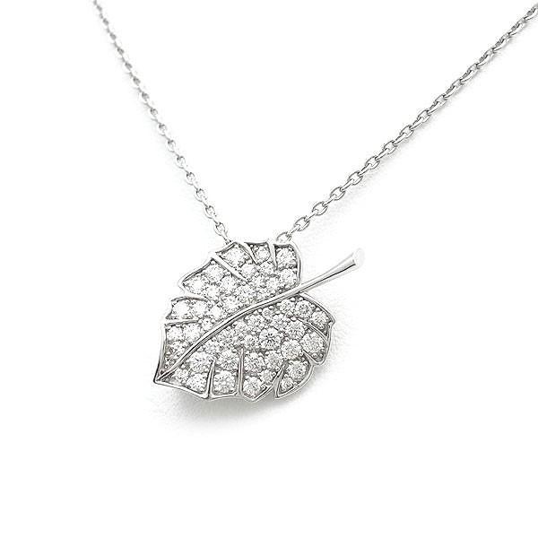 【緑屋質屋】ミキモト ダイヤモンド ネックレス & ブローチ K18WG【中古】_画像1