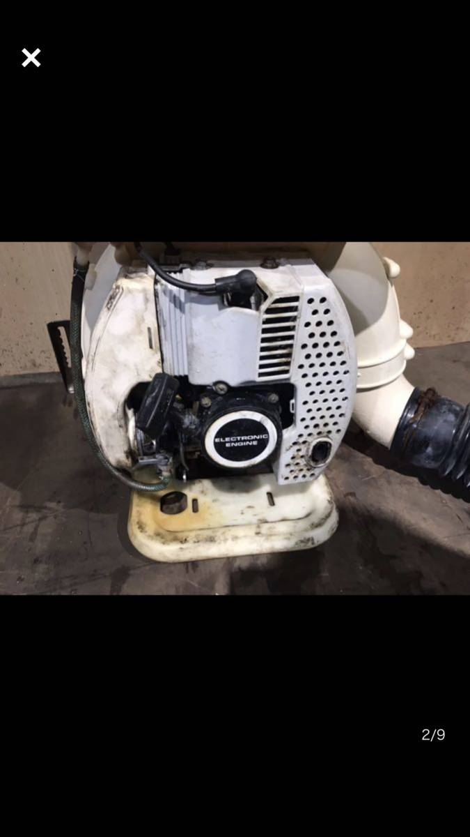 動力散布機 KUBOTA クボタ 背負 動力散布機 丸山動噴 MD6000K エンジン始動ok 071002_画像2