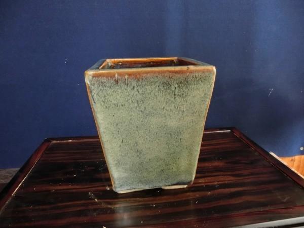 ④日本鉢 【赤膚山】 懸崖正方鉢
