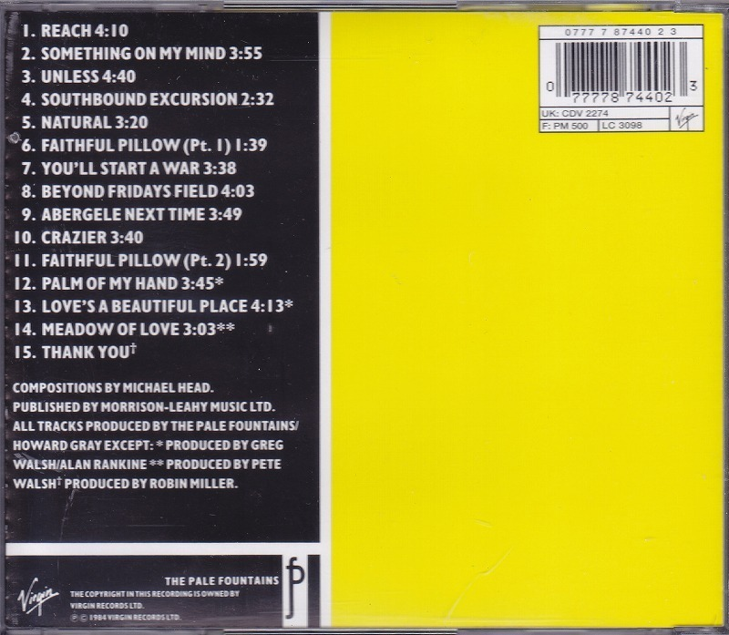THE PALE FOUNTAINS/ペイル・ファウンテンズ/PACIFIC STREET/EU盤/中古CD!! 商品管理番号:42290_画像2
