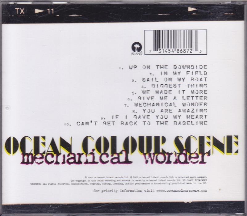 オーシャン・カラー・シーン/MECHANICAL WONDER/EU盤/中古CD!! 商品管理番号:42315_画像2