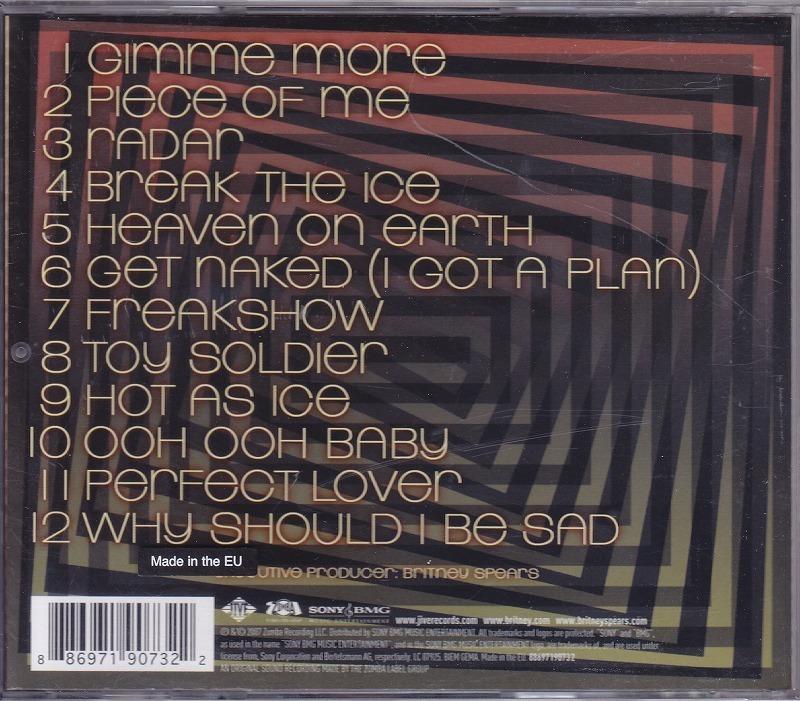 BRITNEY SPEARS/ブリトニー・スピアーズ/BLACKOUT/EU盤/中古CD!! 商品管理番号:42395_画像2