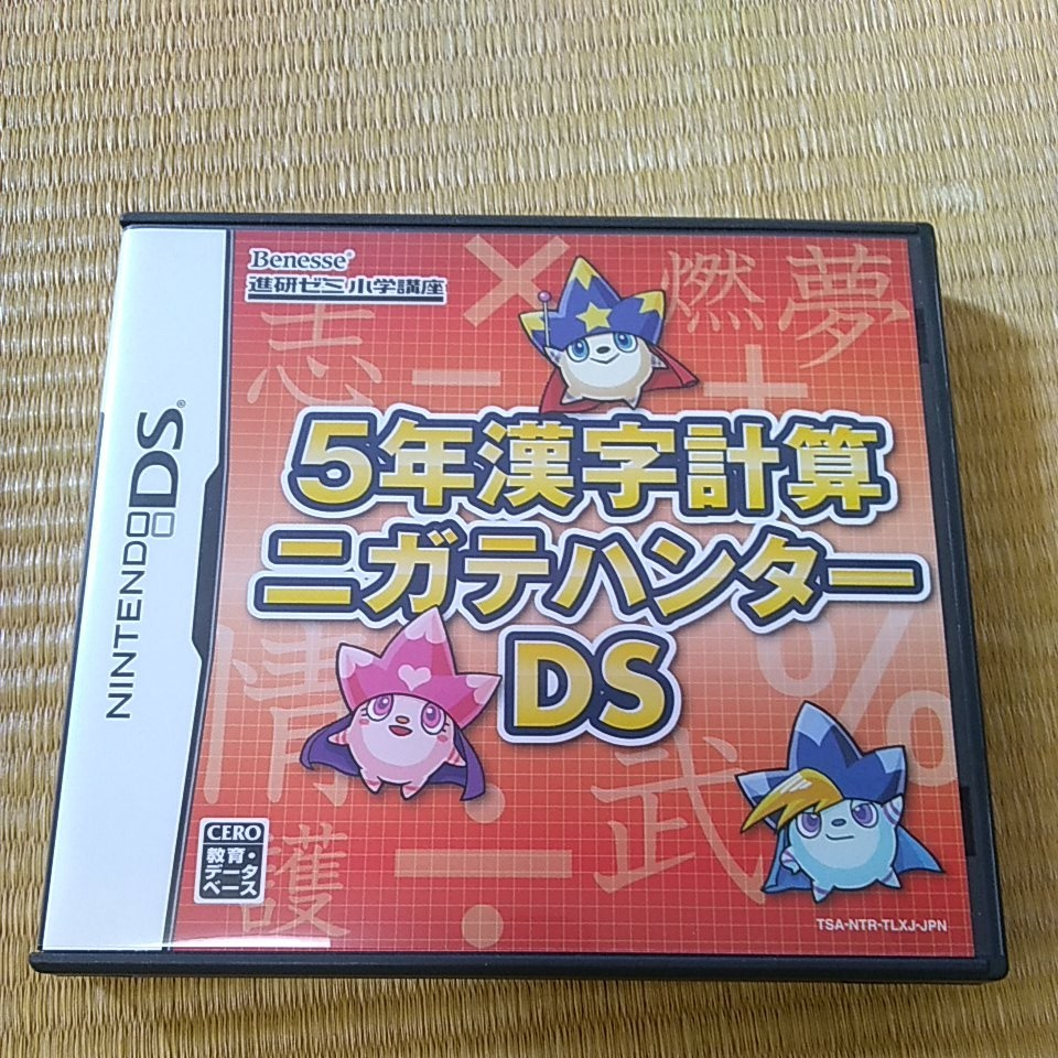 DSソフト 5年漢字計算ニガテハンターDS