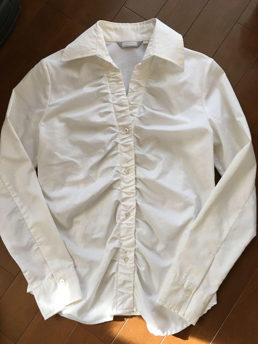 長袖シャツ 白シャツ