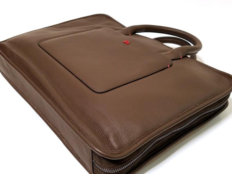 1円~30万本物新品 ISAIAイザイア 総レザーブリーフケース 茶 小細工抜きで戦えるビジネスバッグ スーツ ジャケットスタイルに_画像5