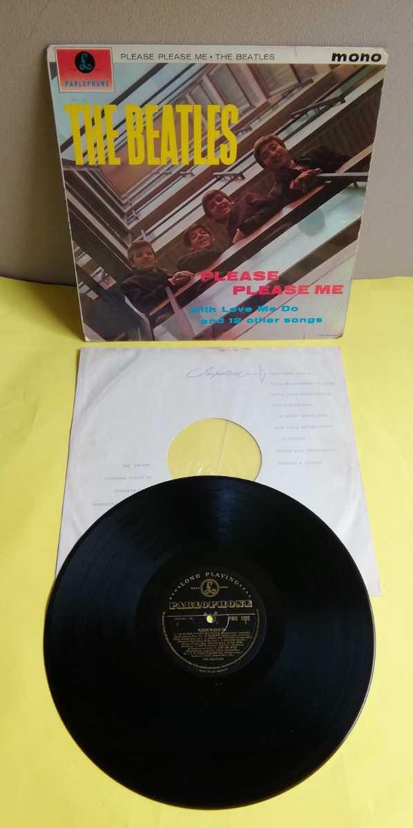 ビートルズ 【ゴールド/両面溝/両面1H/希少TAX】「PLEASE PLEASE ME」UK盤 mono GOLD PARLOPHONE/Dick James
