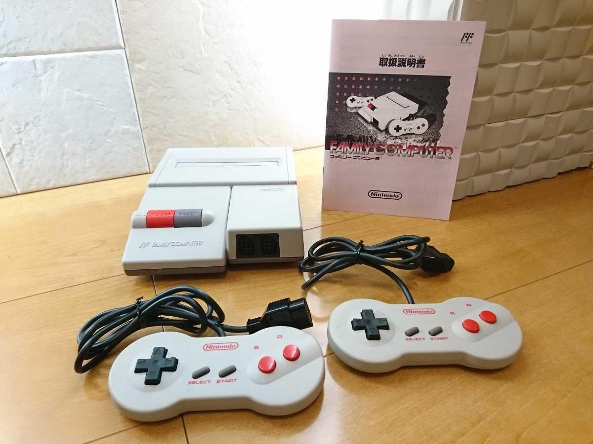【美品】ニューファミコン 本体 コントローラー2つ 任天堂 Nintendo ファミコン本体 くにお君シリーズと108本?のソフトが遊べるカセット_画像2