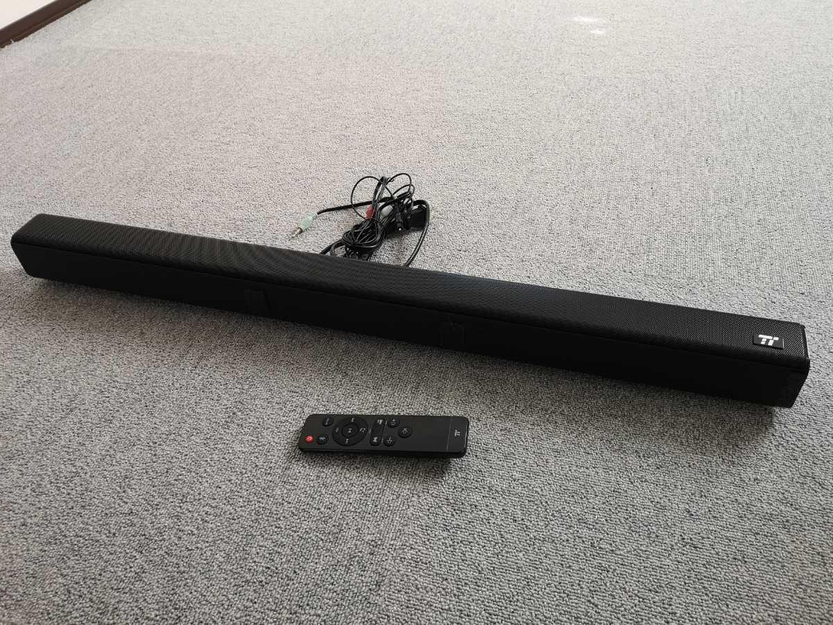 サウンドバー スピーカー Taotronics Bluetooth対応 _サイズは6cm×6cm×80cmです。