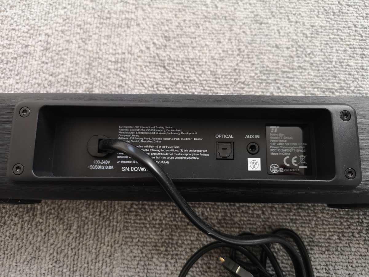サウンドバー スピーカー Taotronics Bluetooth対応 _光デジタル(OPT)・AUXに対応しております。