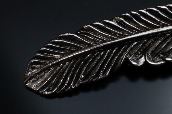 シルバー 925 SV925 silver 純銀 フェザー 羽 上金 ホイール 2連 ペンダントトップ チャーム 右向き 刻印有 メンズ 新品_画像7