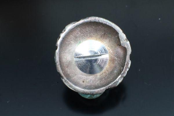 コンチョ ボタン レザークラフト 手芸 財布 ネジ式 合金 レッド 20mm 新品 シルバー風 燻し加工風_画像2