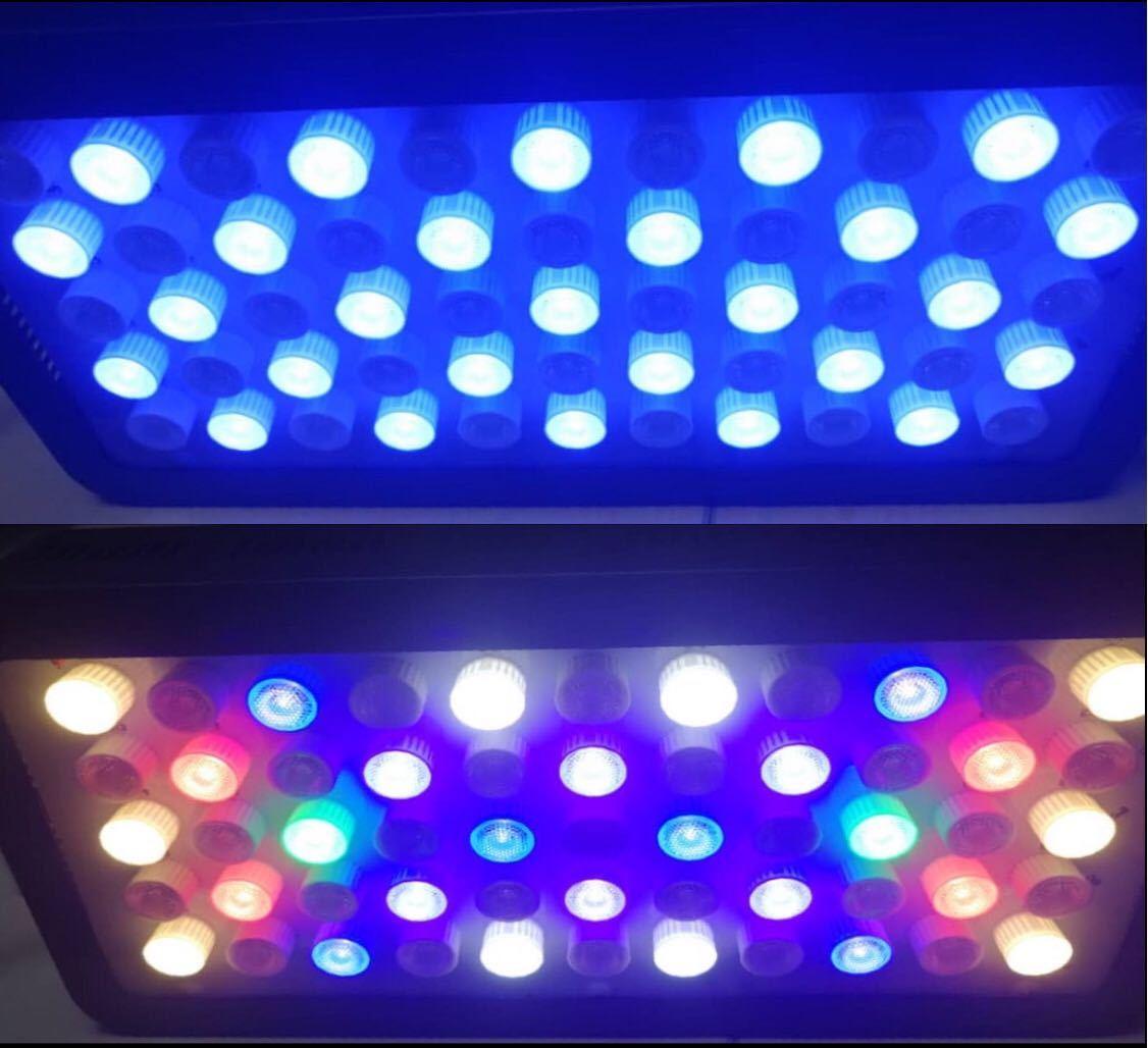 サンゴ水槽カスタムLEDライト20000kタイプ フルスペクトル165w プリズムレンズ 調光機能付き 3台セット 特価_画像2