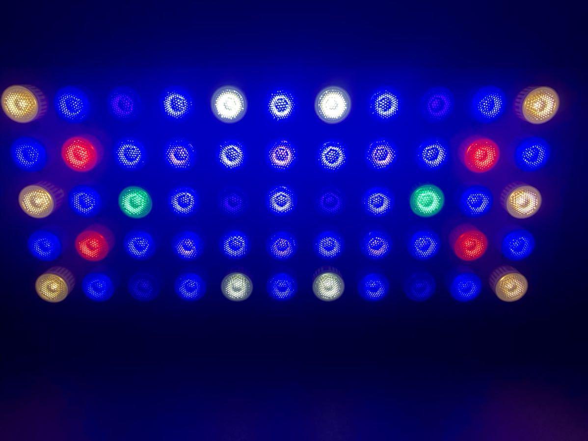サンゴ水槽カスタムLEDライト20000kタイプ フルスペクトル165w プリズムレンズ 調光機能付き 3台セット 特価_画像5