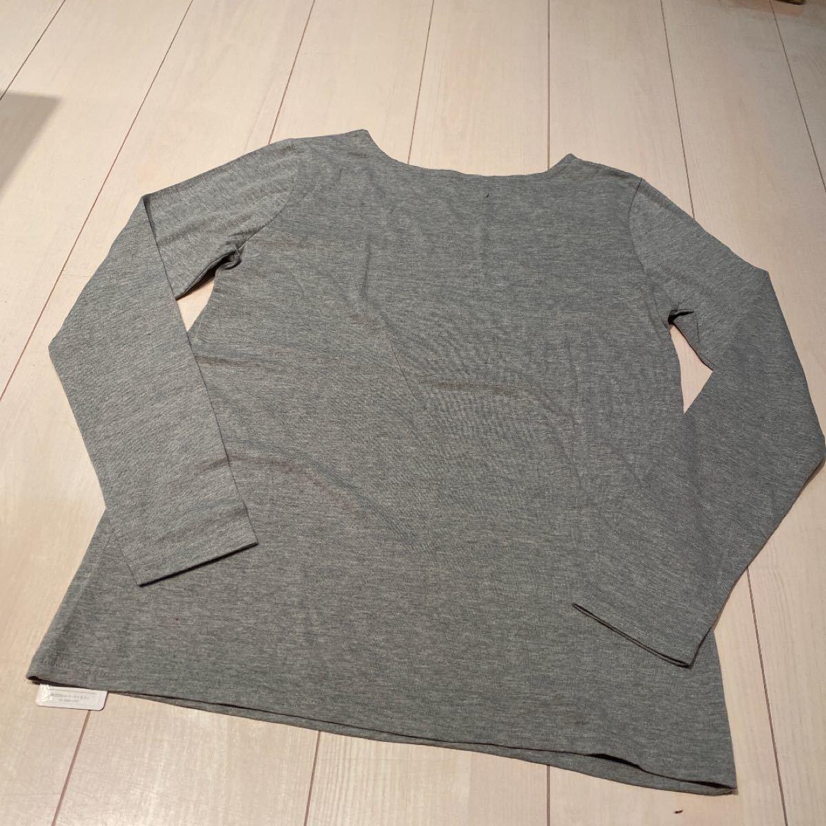 トップス 新品 デコルテの開きがキレイな一枚 長袖Tシャツ 春カットソー