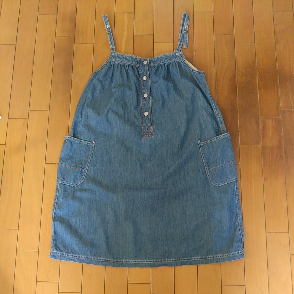 レディースデニムワンピース、Tシャツ、2点セット、Mサイズ