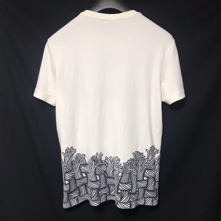本物 名作 ルイヴィトン クリストファーネメス ロープ Tシャツ S 白 LV刺繍 LOUIS VUITTON_画像3