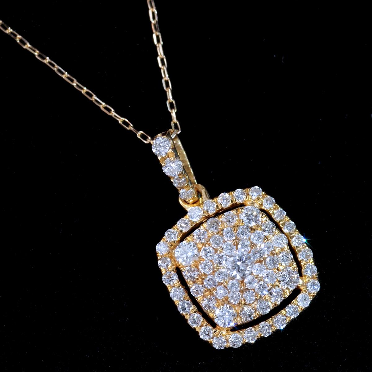 *PN6346 新品!業者向け令和新作Design! 天然上質ダイヤモンド0.40ct 最高級18金無垢ネックレス