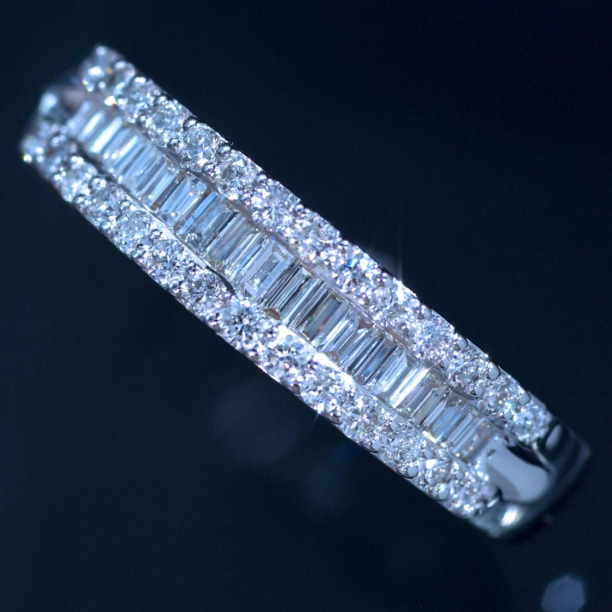 *R4251 新品!業者向け令和新作Design! 天然上質ダイヤモンド0.50ct 最高級18金WG無垢リング