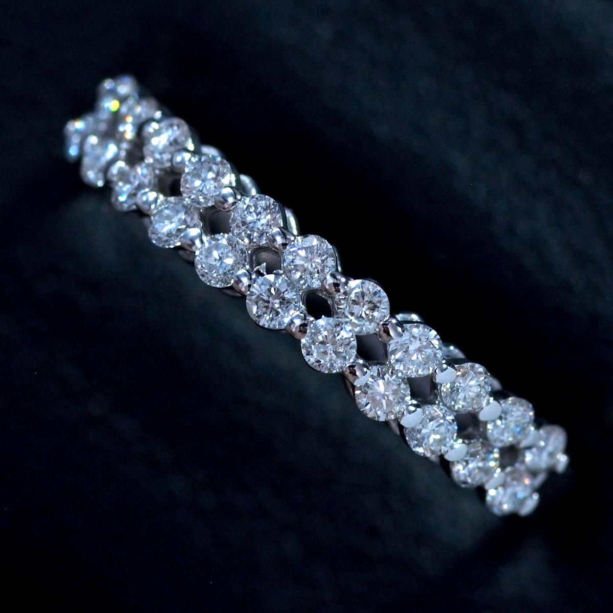 *R4441WG 新品!令和新作! 天然上質ダイヤモンド0.40ct 最高級18金WG無垢リング サイズ13號 重量1.5g 縦幅3.3mm